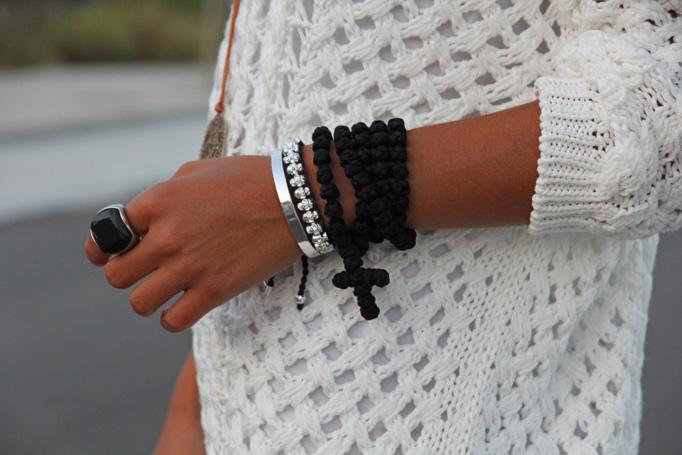 black 100knot prayer rope necklace
